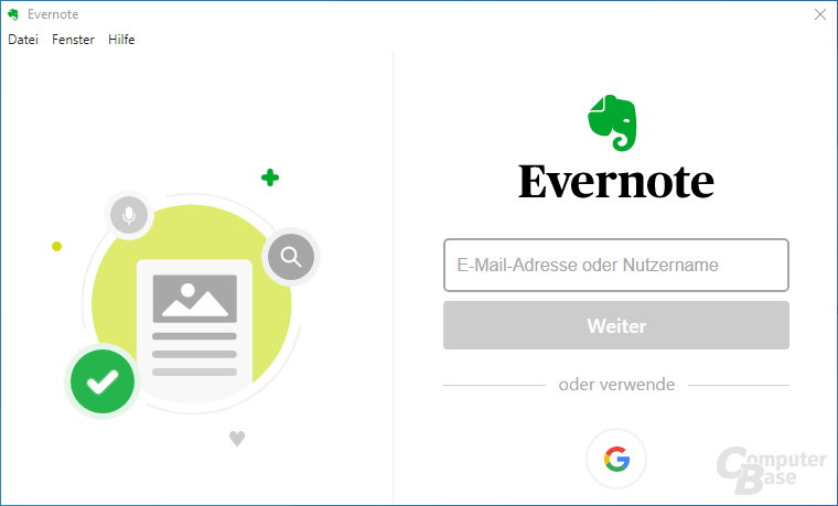 Evernote – Login