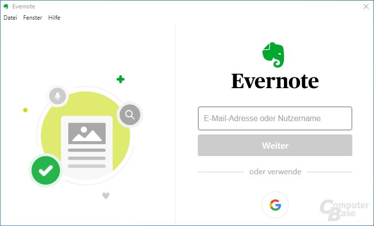 Evernote – Login