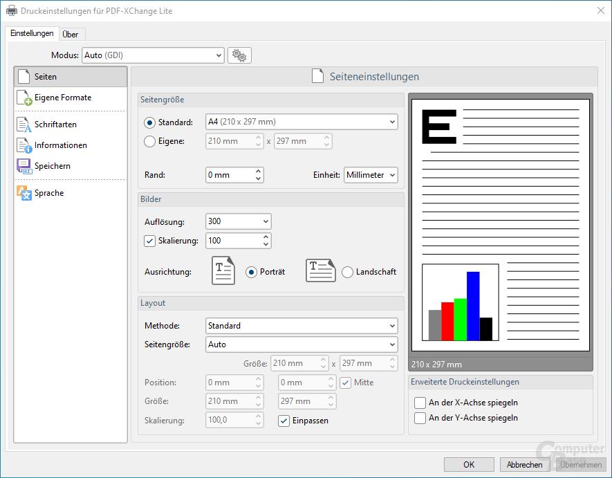 PDF-XChange Lite – Export