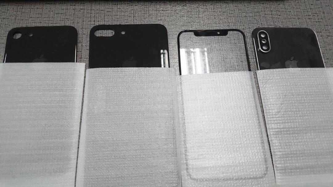 Mutmaßliche Gehäuseteile von iPhone 7s, iPhone 7s Plus und iPhone 8