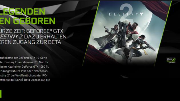 Aktion: Bei GeForce GTX 1080 (Ti) gibts Destiny 2 dazu
