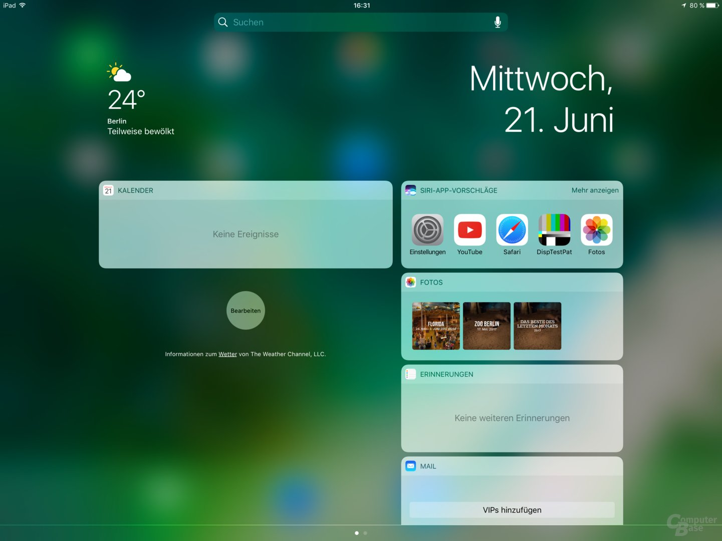 Tagesübersicht unter iOS 10