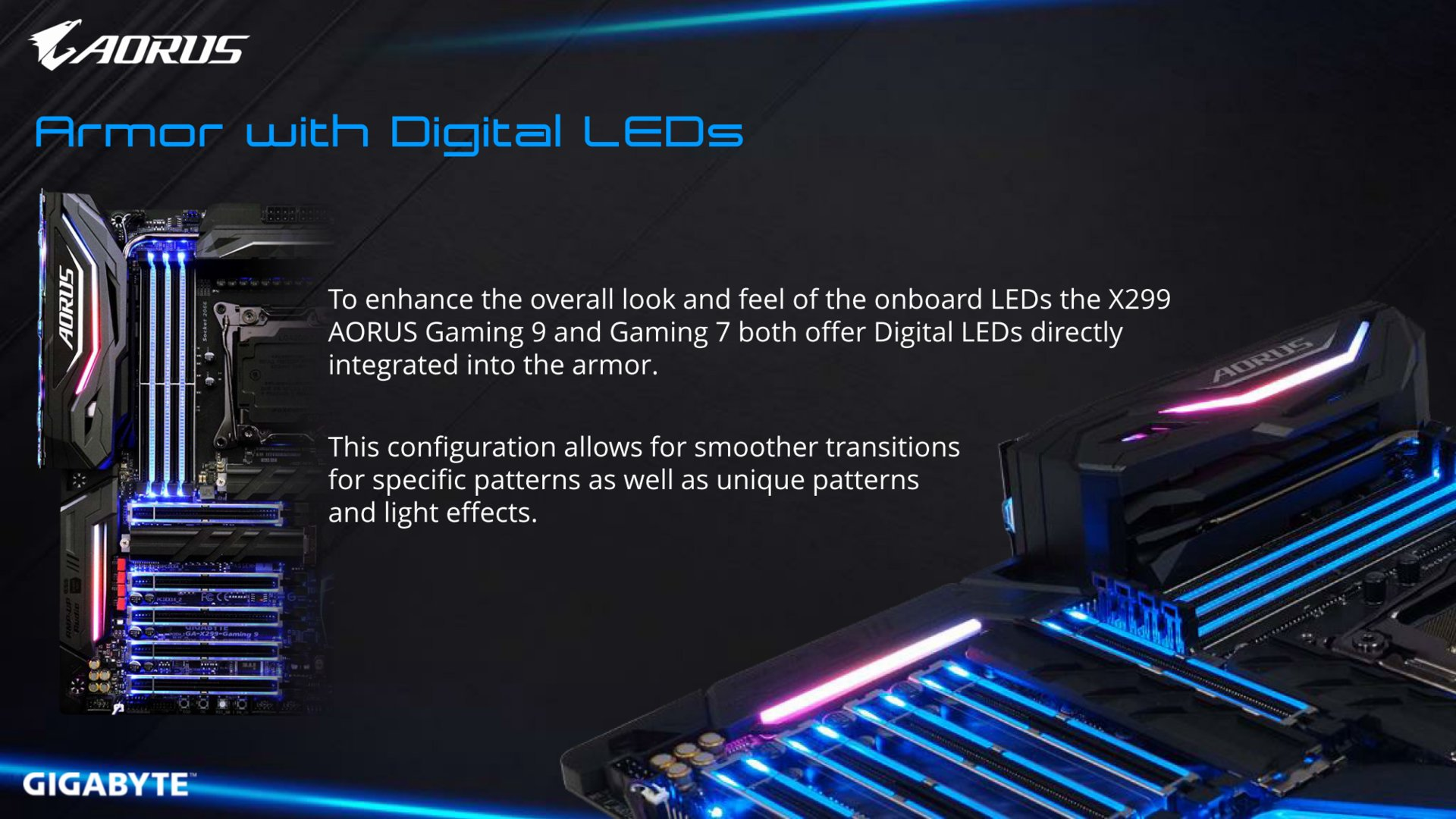 """Digital-LEDs"" im ""Armor"""