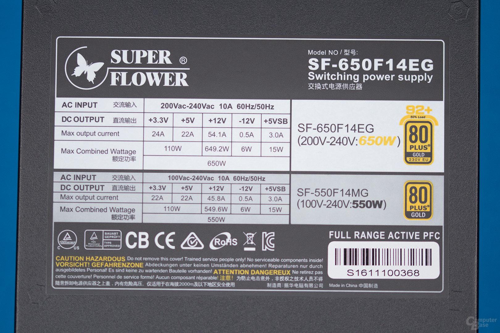 Super Flower Leadex II Gold 650W