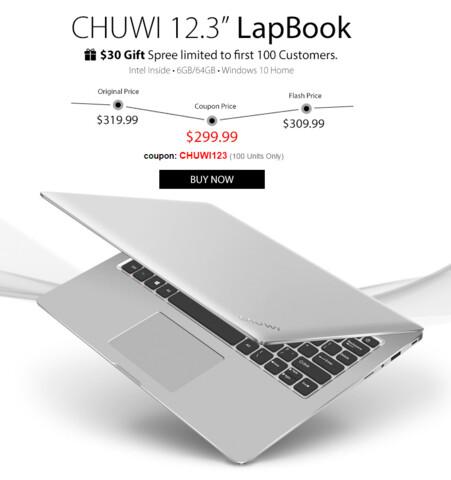 Chuwi LapBook 12.3 bei GearBest reduziert