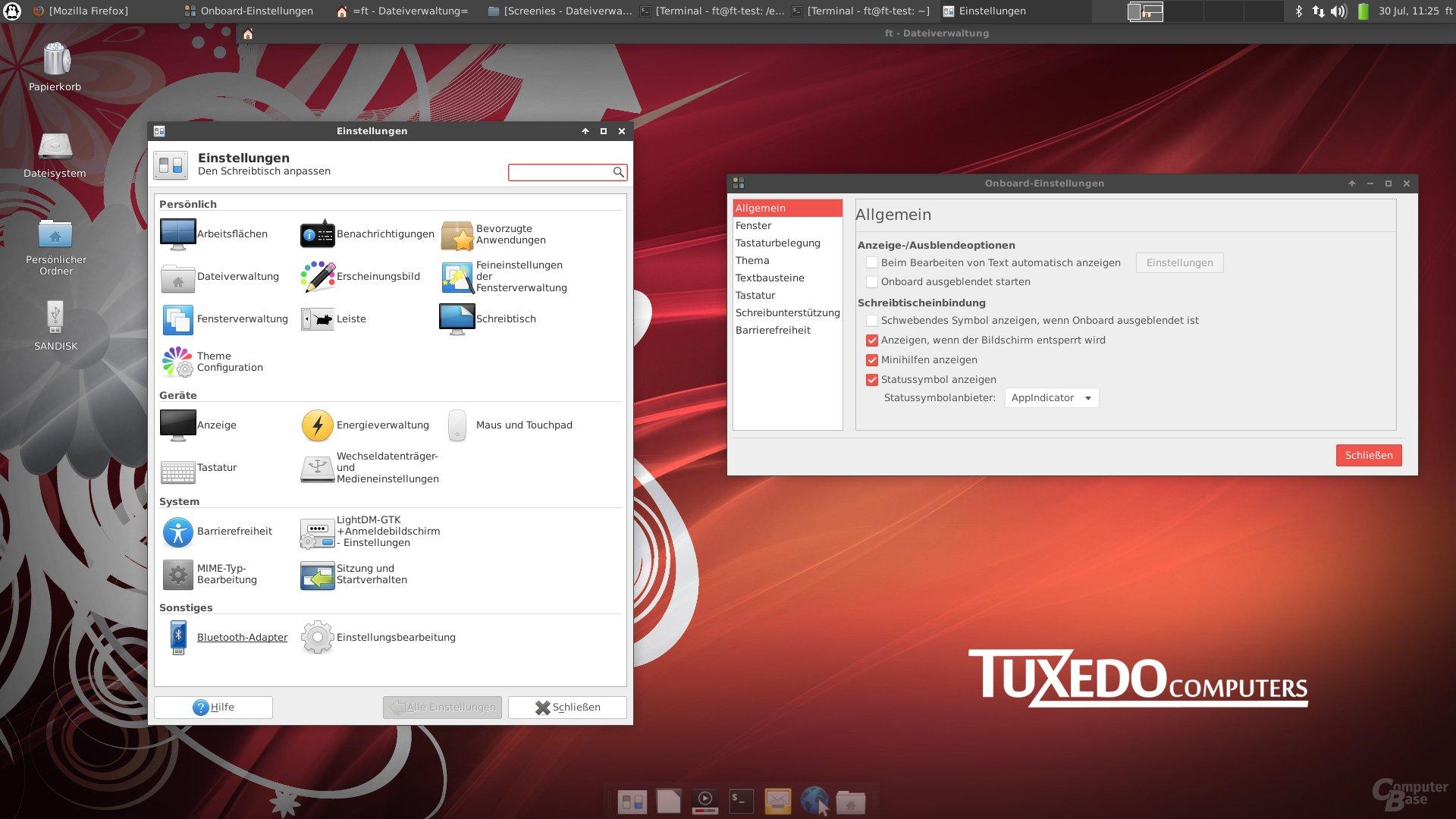 Xubuntu Mate Einstellungsdialog