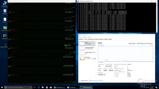 CPU und Arbeitsspeicher werden quasi nicht gefordert