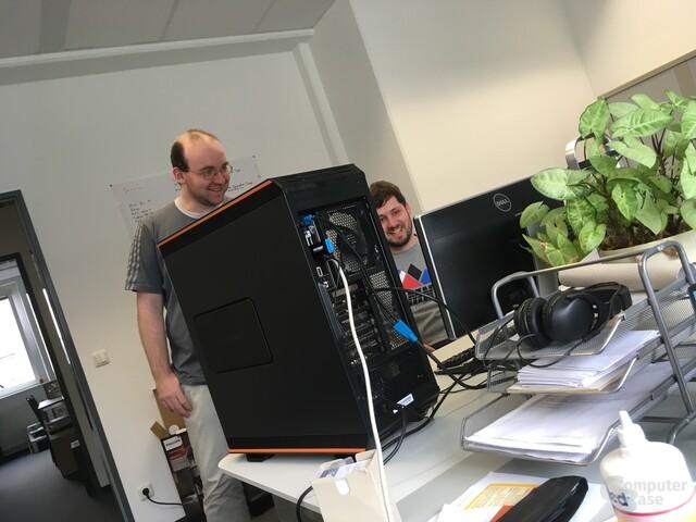 Rechner mit drei Mal Polaris: Laut, leistungshungrig aber mit fast 70 MH/s sehr schnell