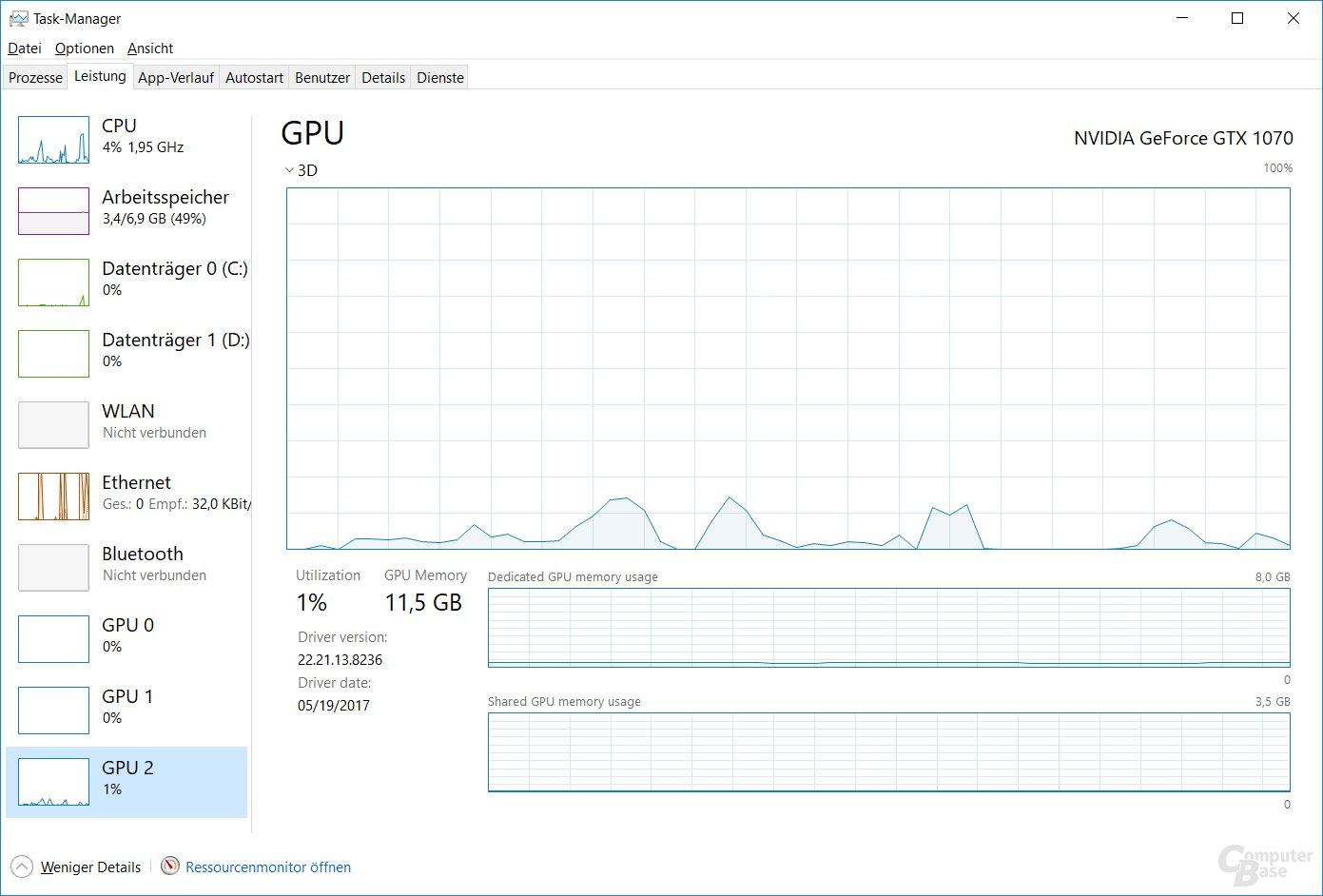 Build 16226 zeigt die GPU-Auslastung im Taskmanager