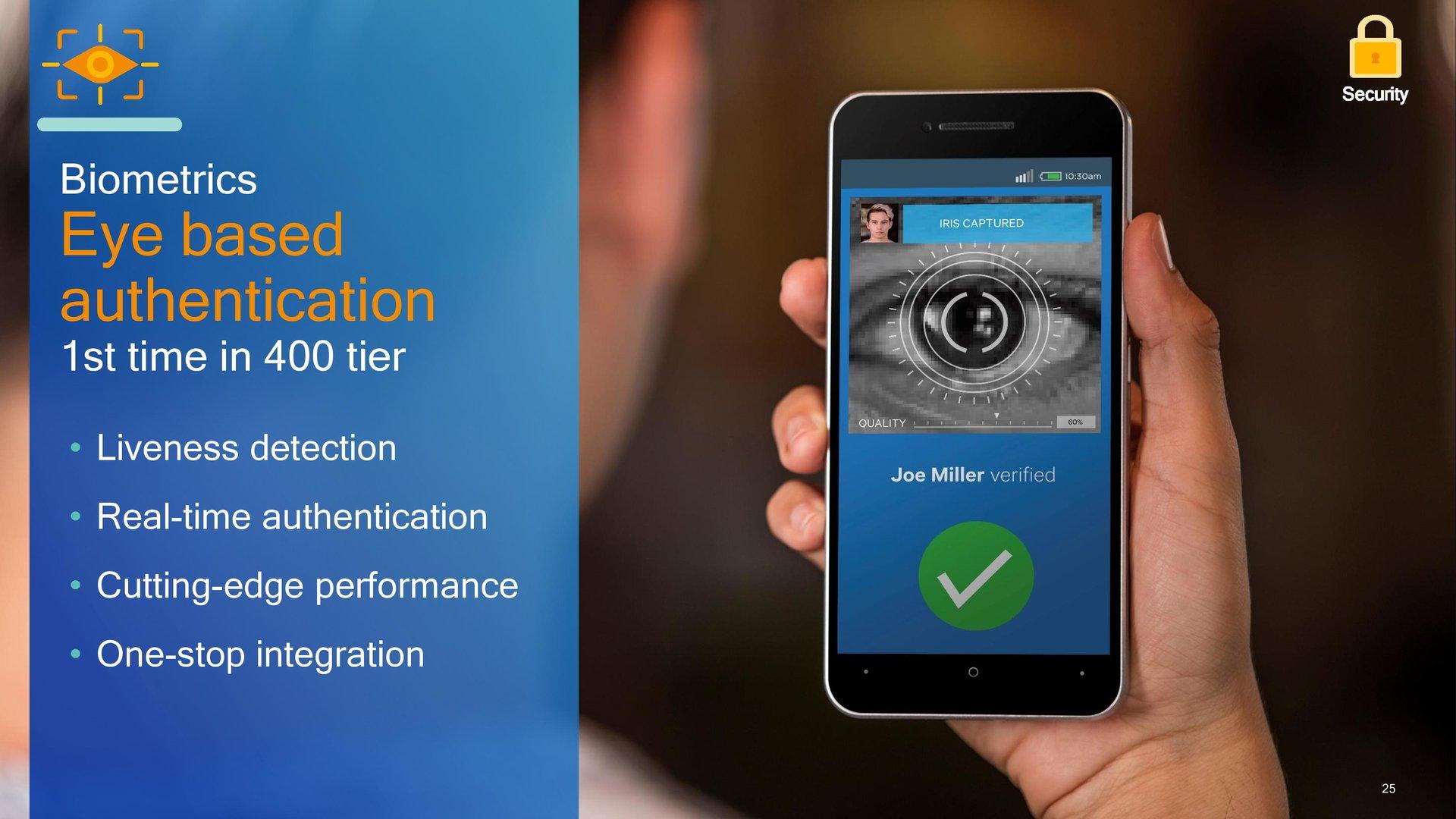 Die Authentifizierung per Retina-Scanner ist jetzt möglich