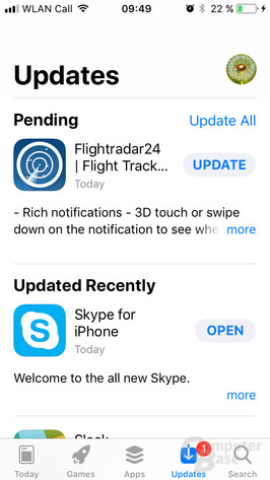 Auf dem iPhone SE wirkt der neue App Store deplatziert