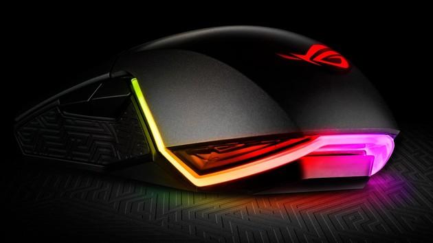 Asus ROG Pugio: Maus trifft Sockeltaster, RGB und variable Seitentasten