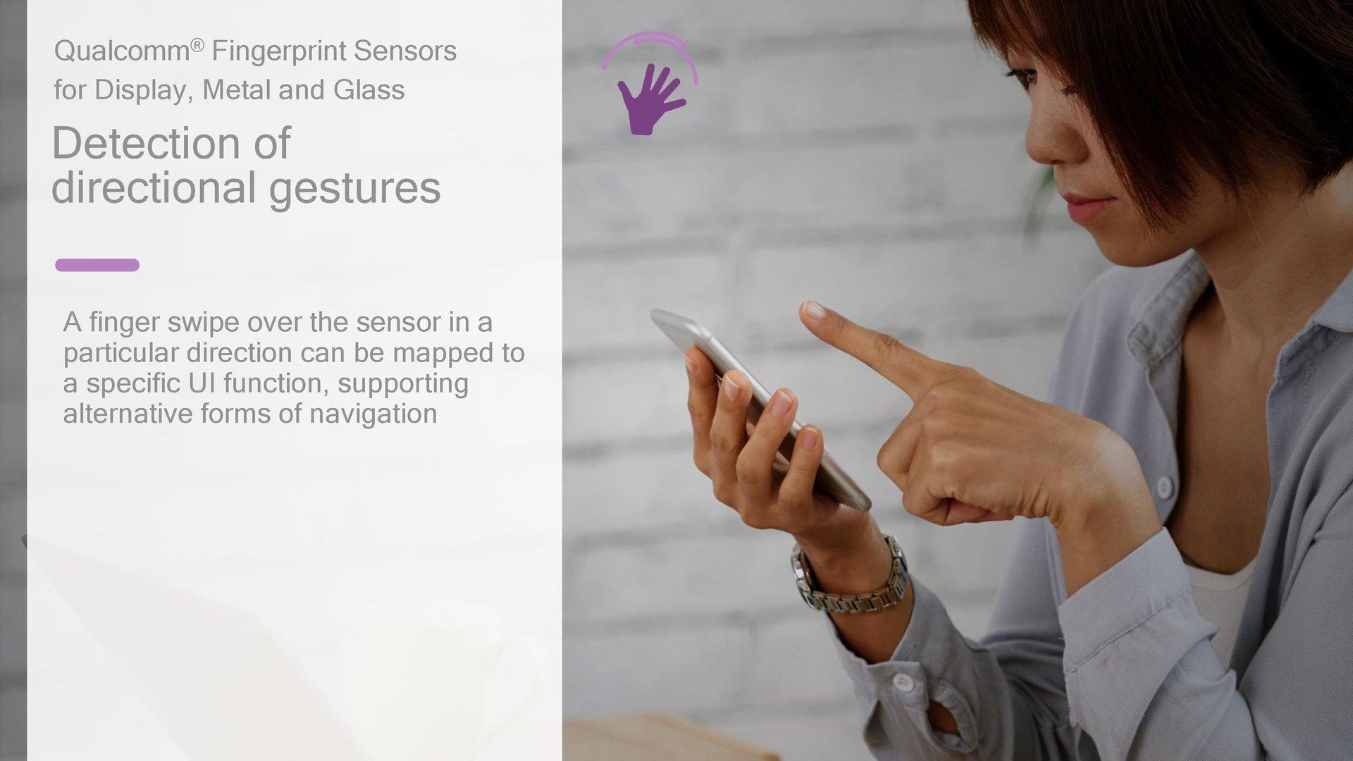 Gestenerkennung über den Sensor