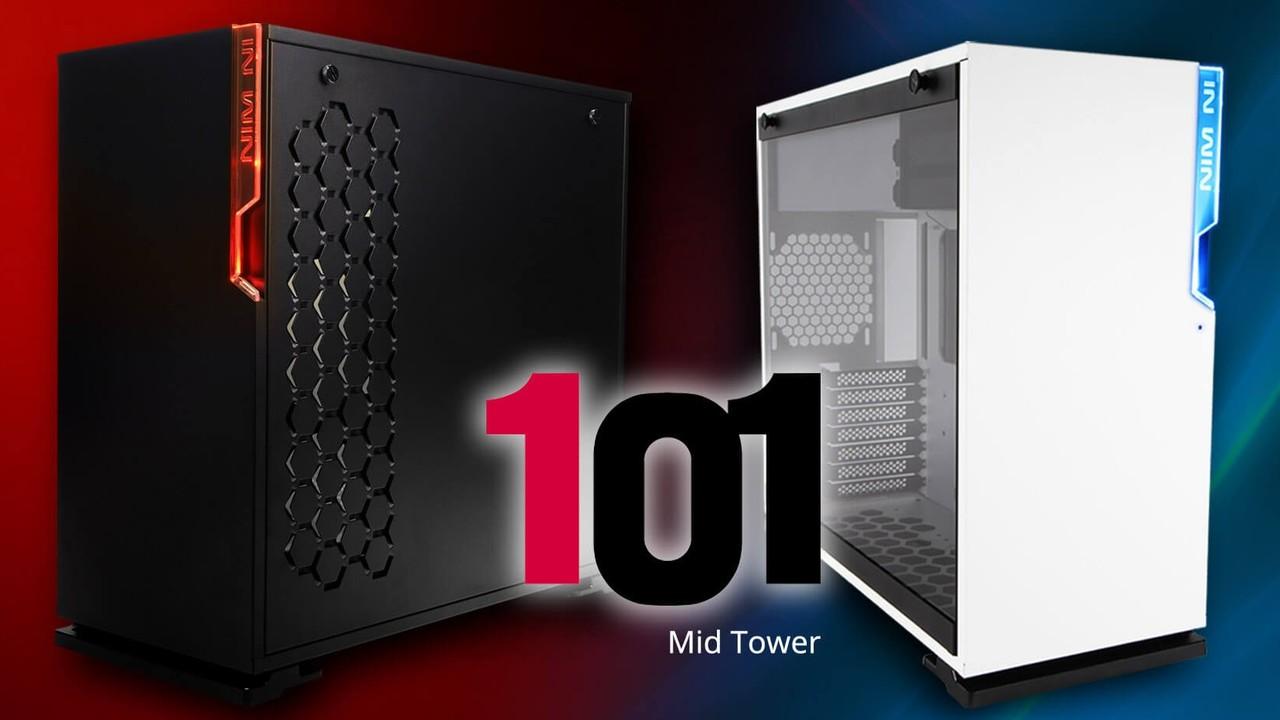 In Win 101 & 101C: Ungewöhnliches Tower-Design ab 74 Euro