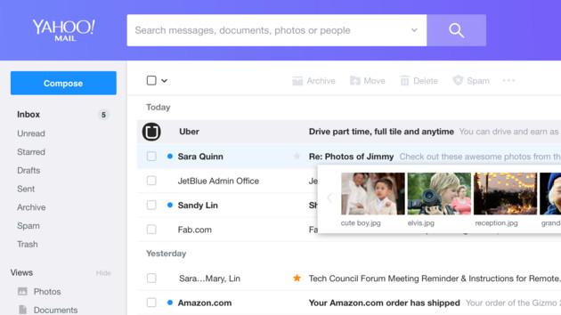Yahoo Mail: Moderneres Interface und kürzere Ladezeiten