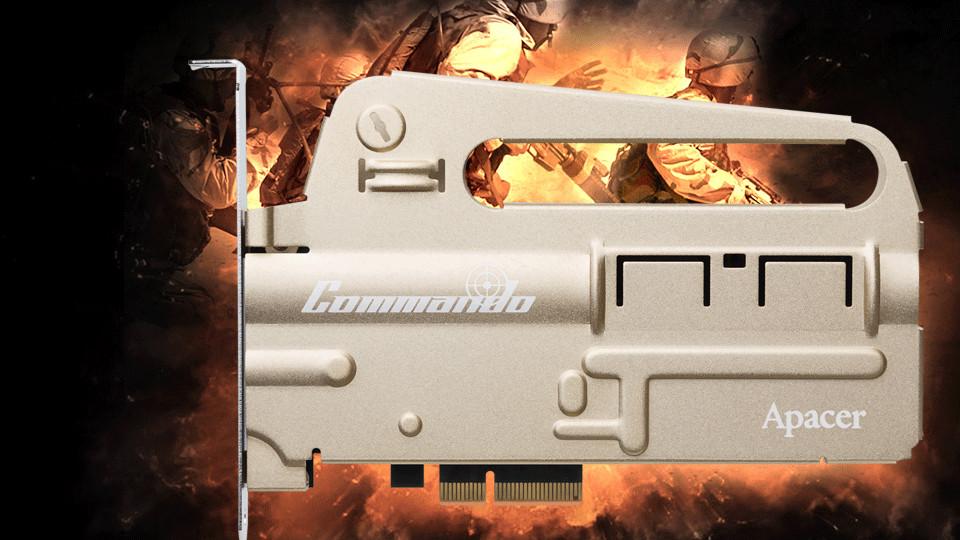 Apacer PT920 Commando: Für diese NVMe-SSD stand ein Sturmgewehr Modell