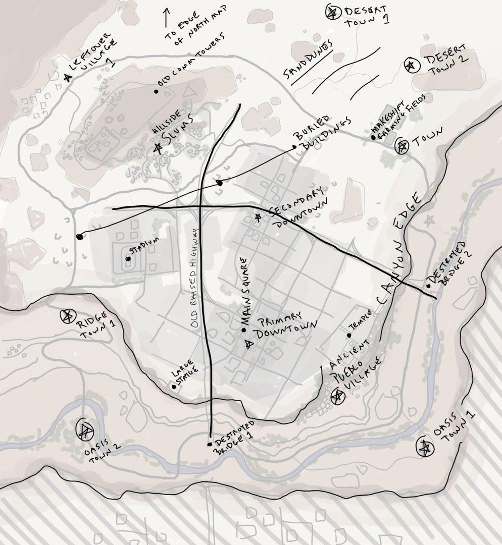 Skizze der neuen Desert-Map