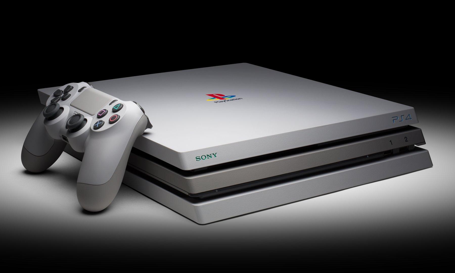 Auch die PlayStation 4 Pro gibt es im Retro-Look