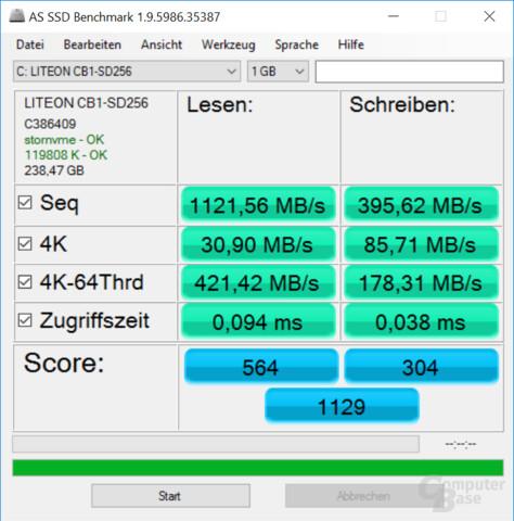 NVMe-SSD mit geringer Geschwindigkeit
