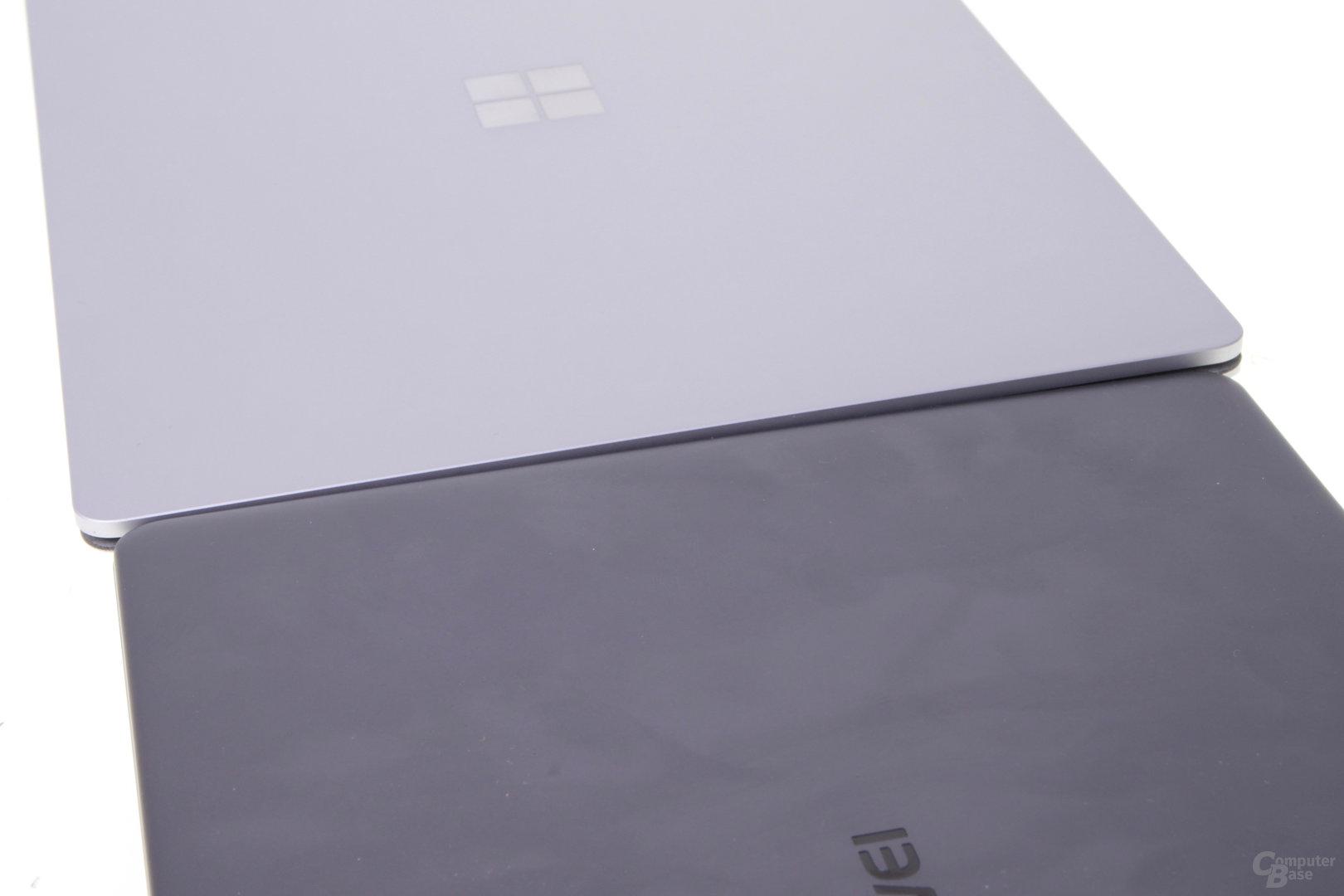 Das MateBook X im Vergleich zum Surface Laptop
