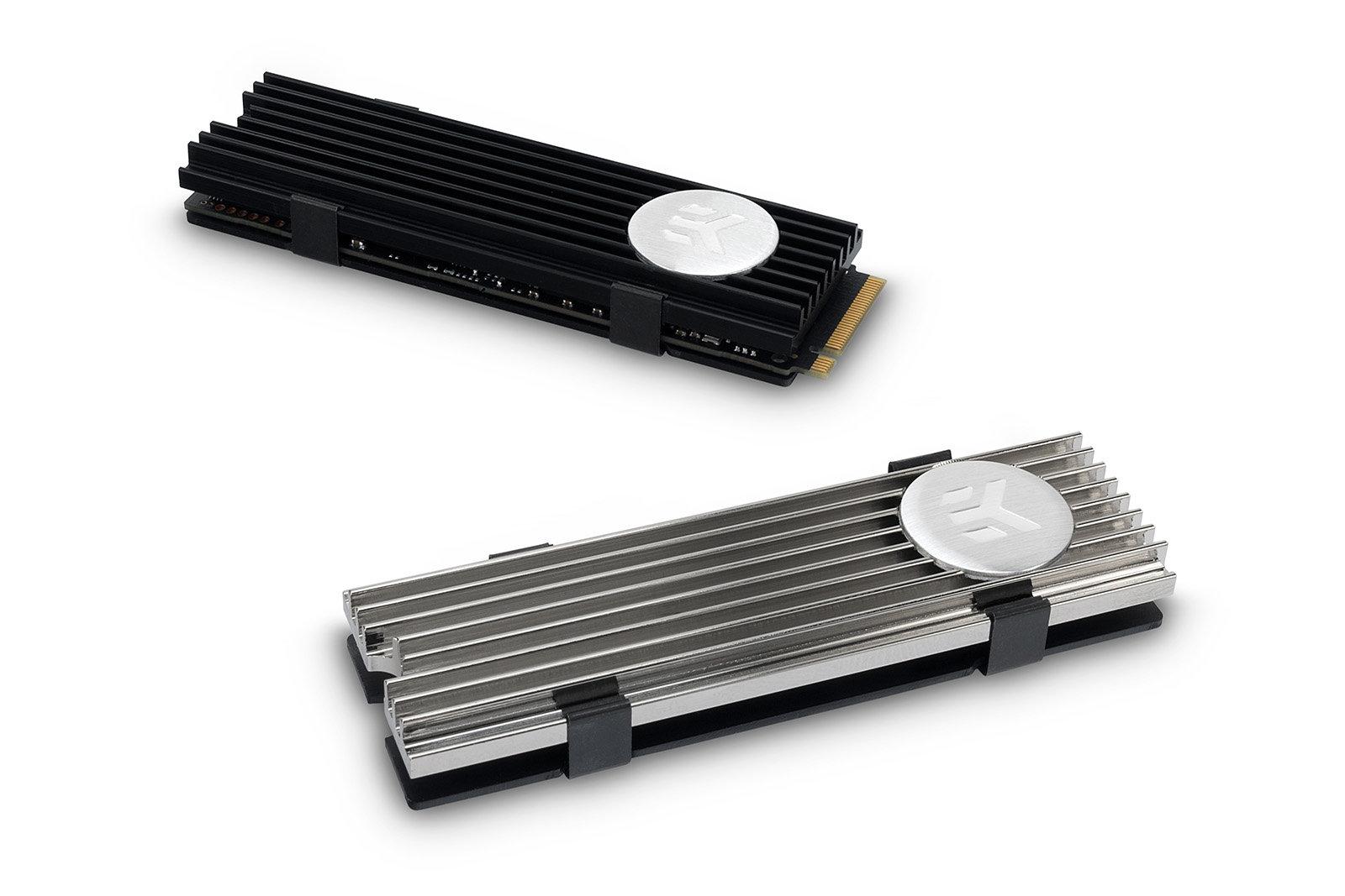 EK-M.2 NVMe Heatsink: M.2-SSD-Kühler in schwarz und vernickelt