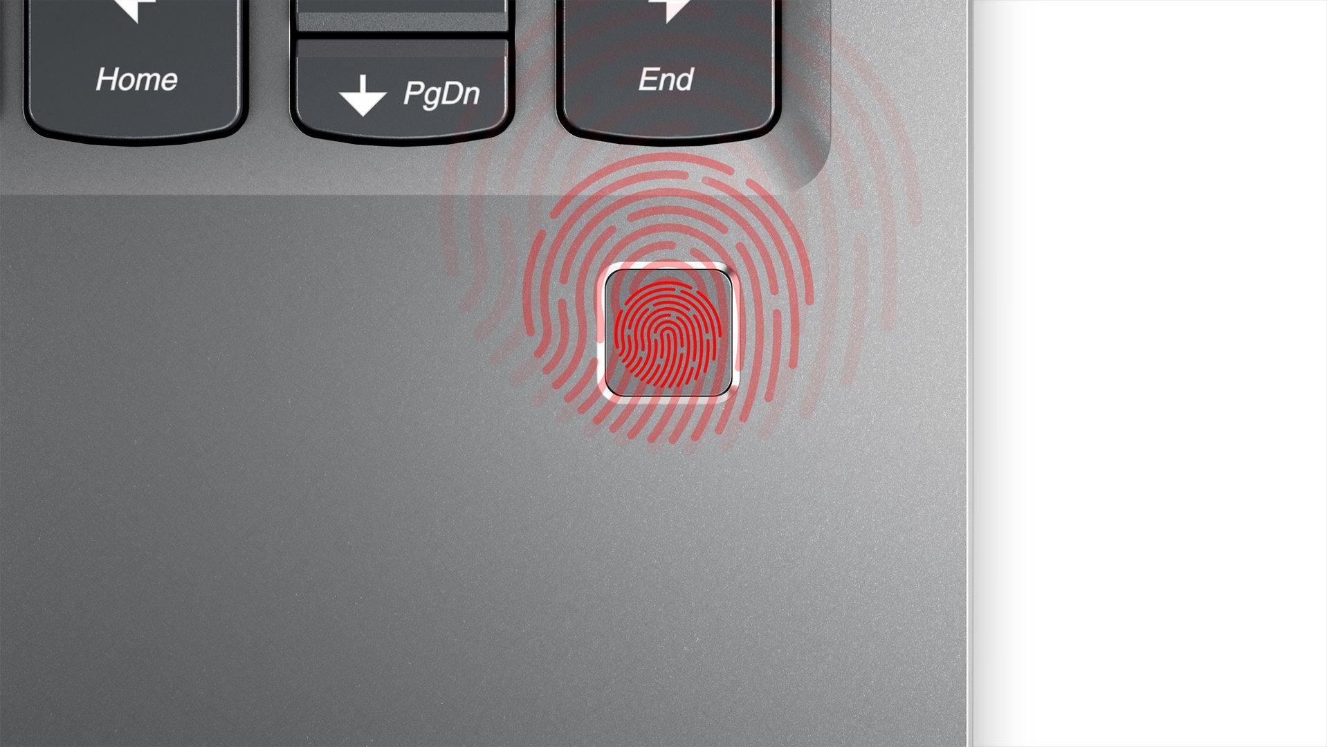 Lenovo Yoga 720 – Integrierter Fingerabdruckssensor