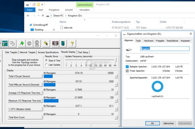 Einmal vollschreiben, bitte! – Der Kingston DataTraveler Ultimate GT bietet echte 2 TByte bzw. 1,83 TiByte