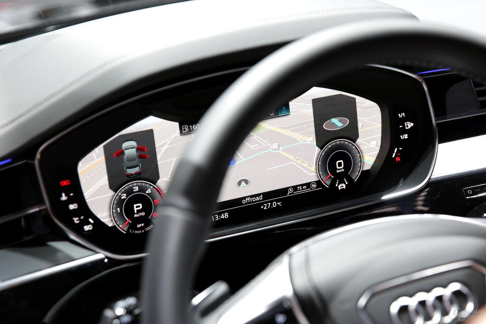 Virtual Cockpit mit 12,3 Zoll vor dem Fahrer