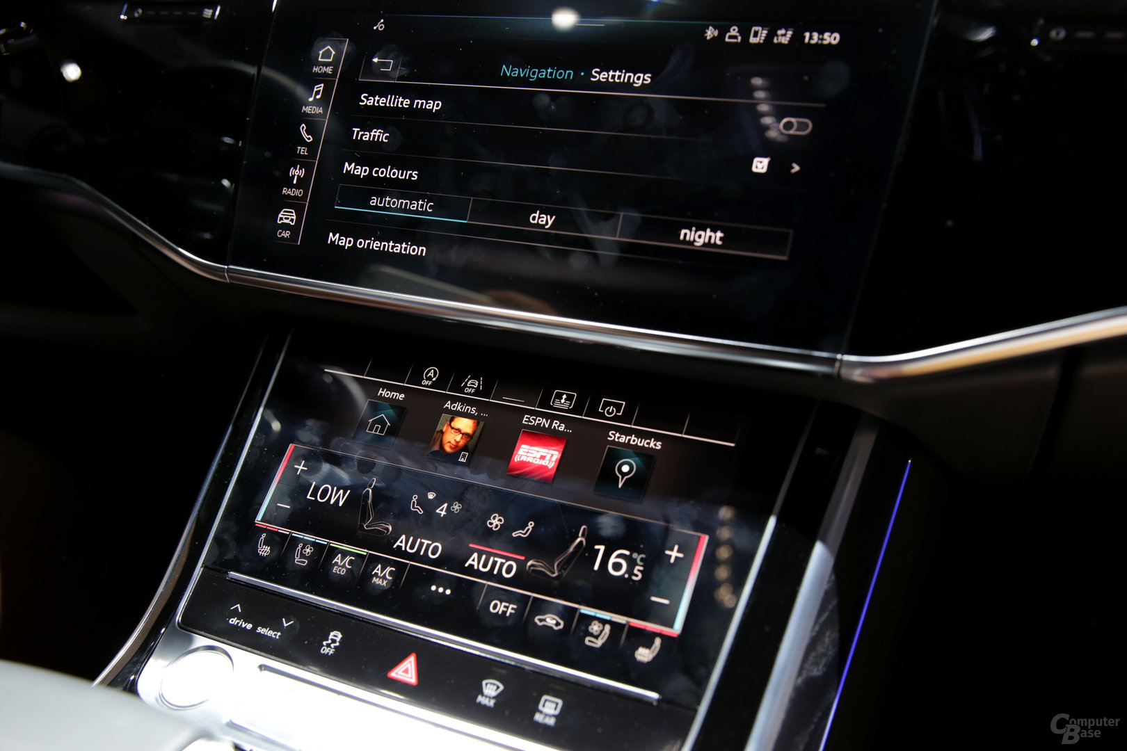 Displays in der Mittelkonsole mit 10,1 und 8,6 Zoll