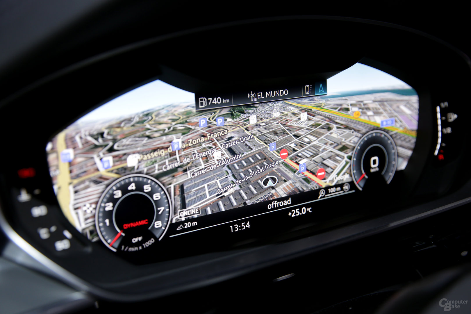 Virtual Cockpit folgt dem Ausschnitt des Armaturenbretts