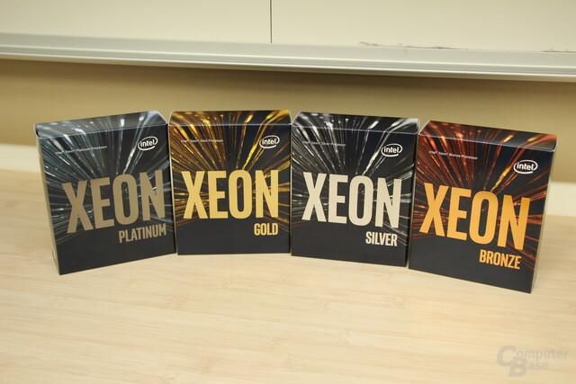 Intel Xeon SP in vier Klassen