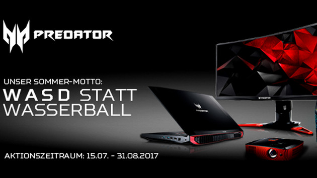 Acer Cashback: Bis zu 300 Euro Erstattung für Predator-Ausrüstung