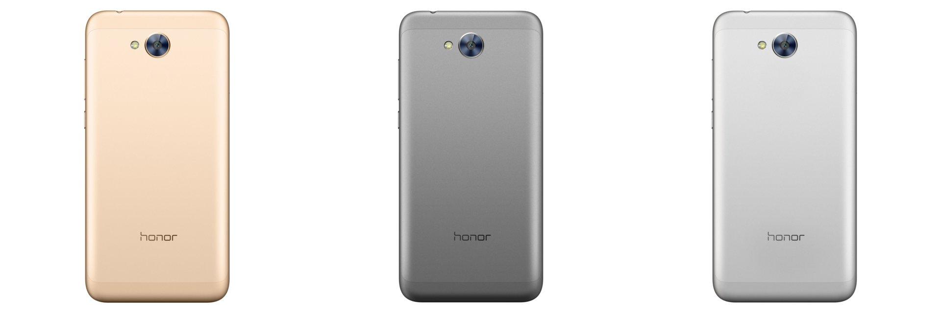 Honor 6 von hinten in Gold, Grau und Silber