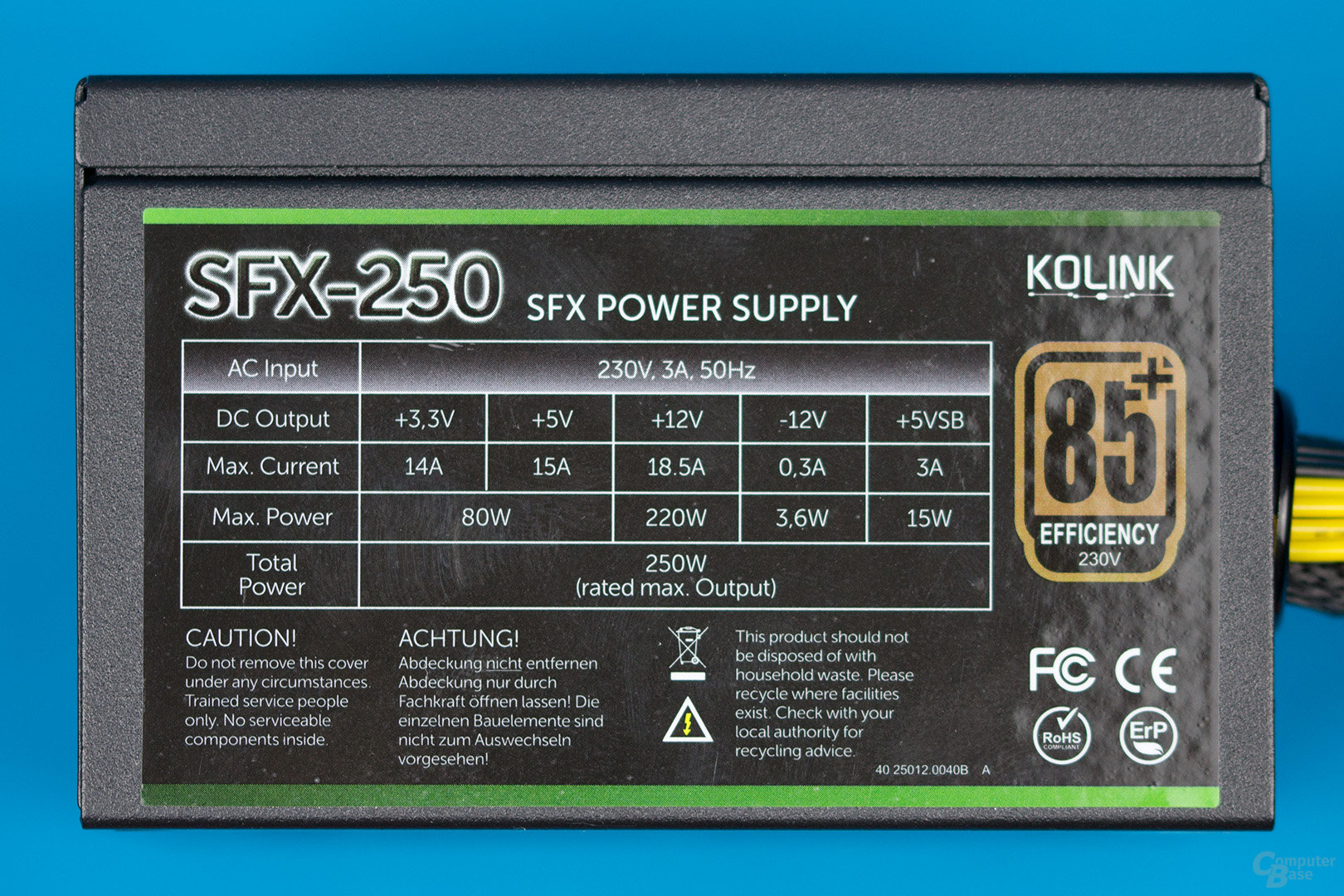 Kolink SFX-250 – Lastverteilung