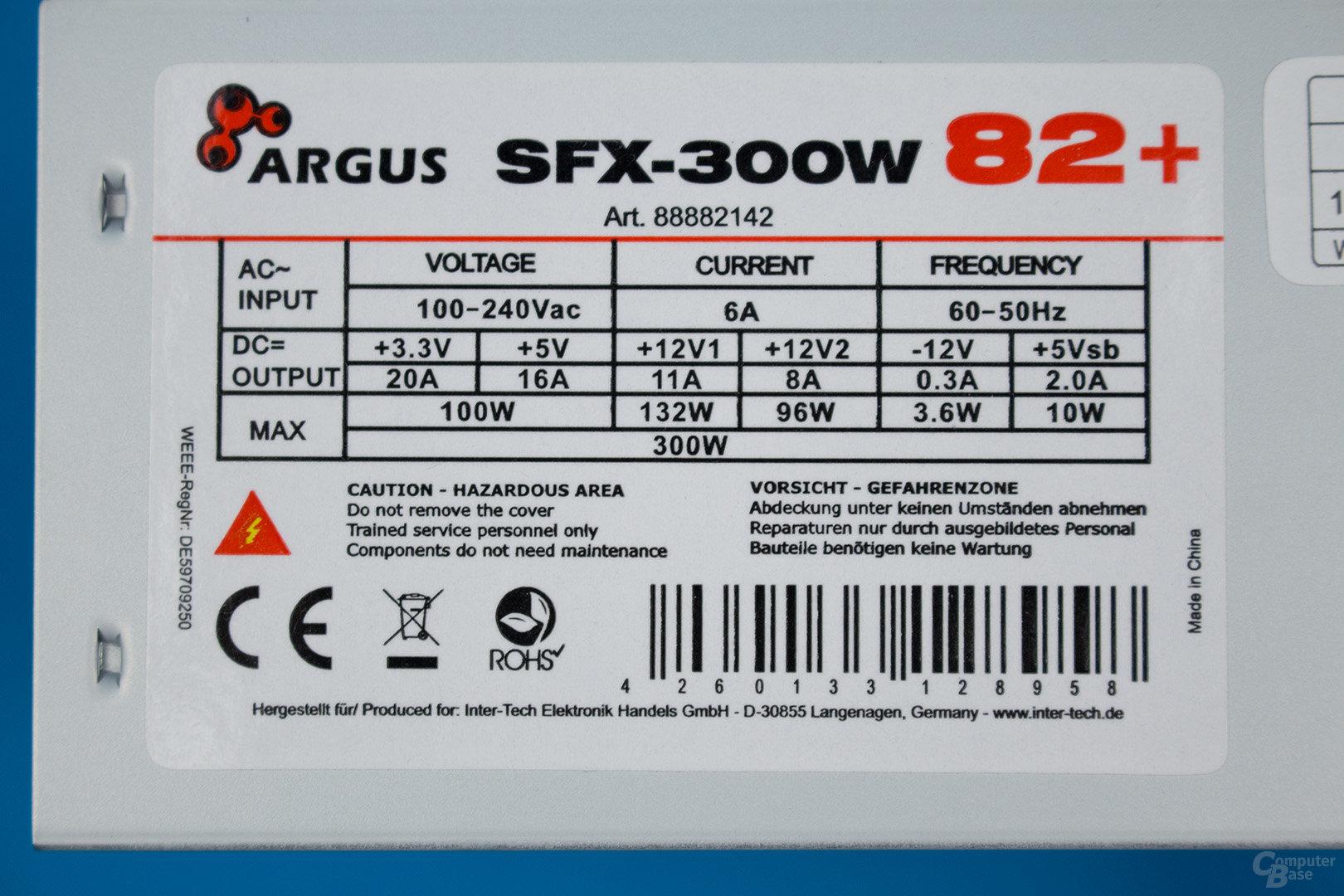 Inter-Tech Argus SFX-300W – Lastverteilung