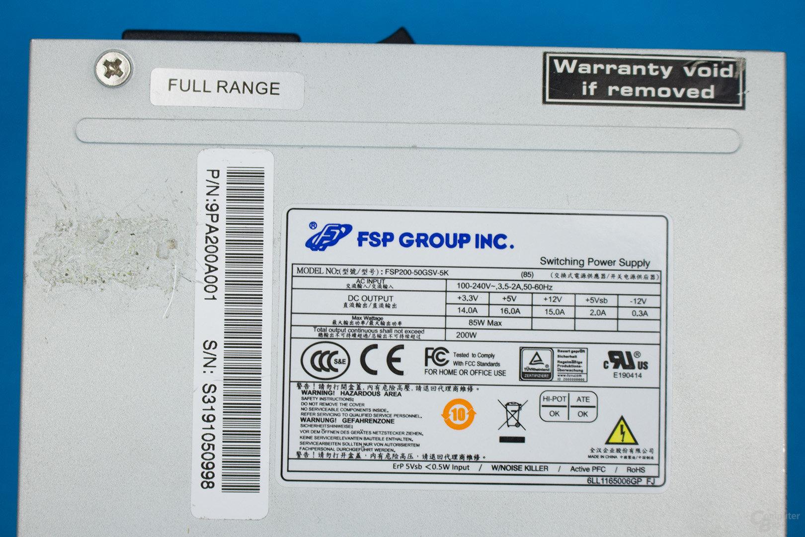 FSP FSP200-50GSV-5K – Lastverteilung