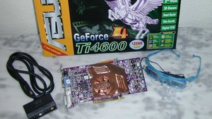 Im Test vor 15 Jahren: Asus GeForce4 Ti 4600 mit 3D-Shutterbrille
