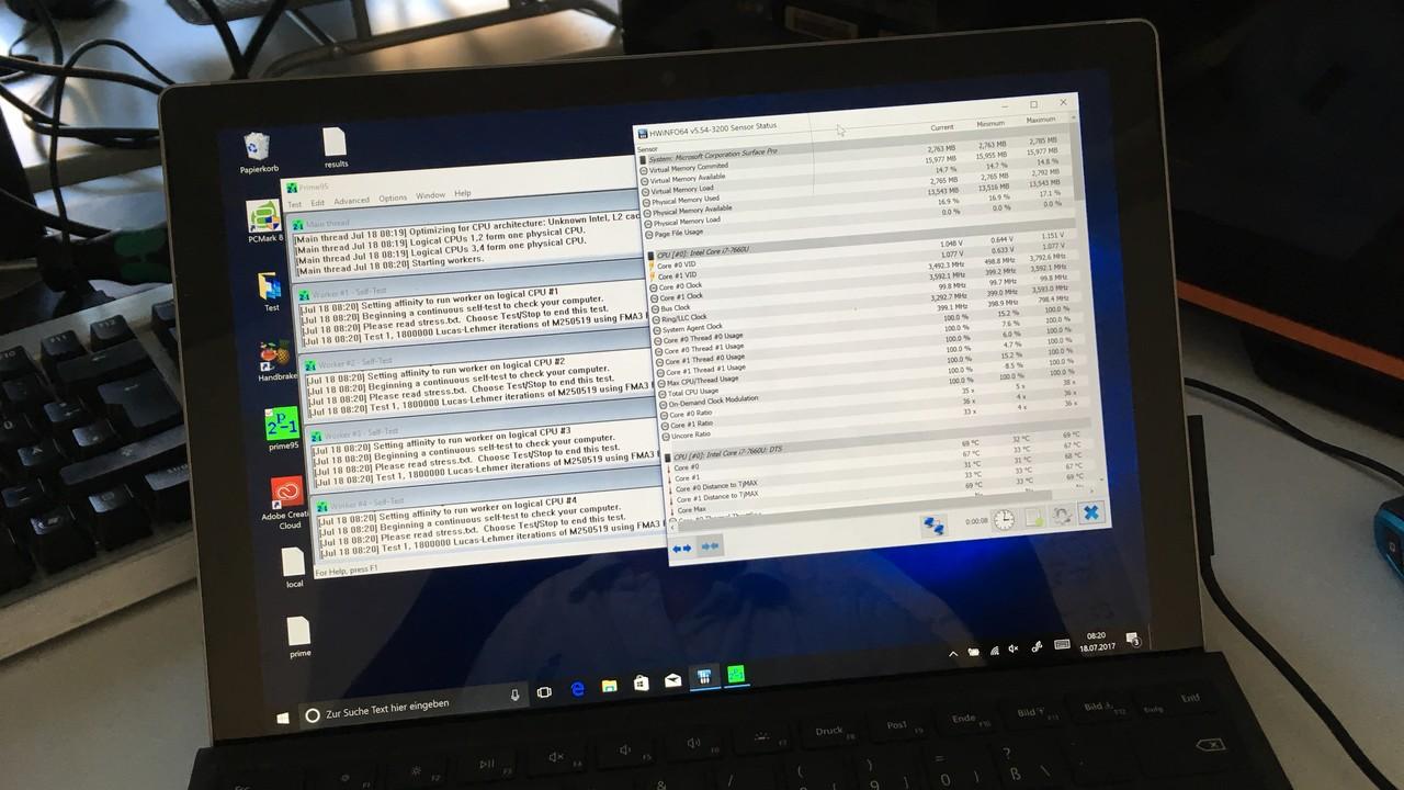 Surface Pro 2017: Firmware-Update verhindert Abstürze nicht