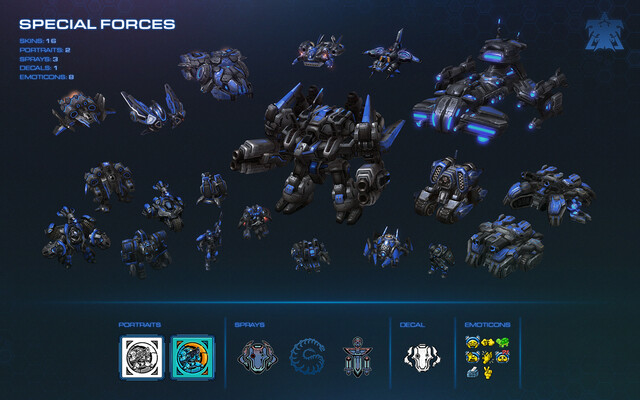 Die Skins des Terran War Chest