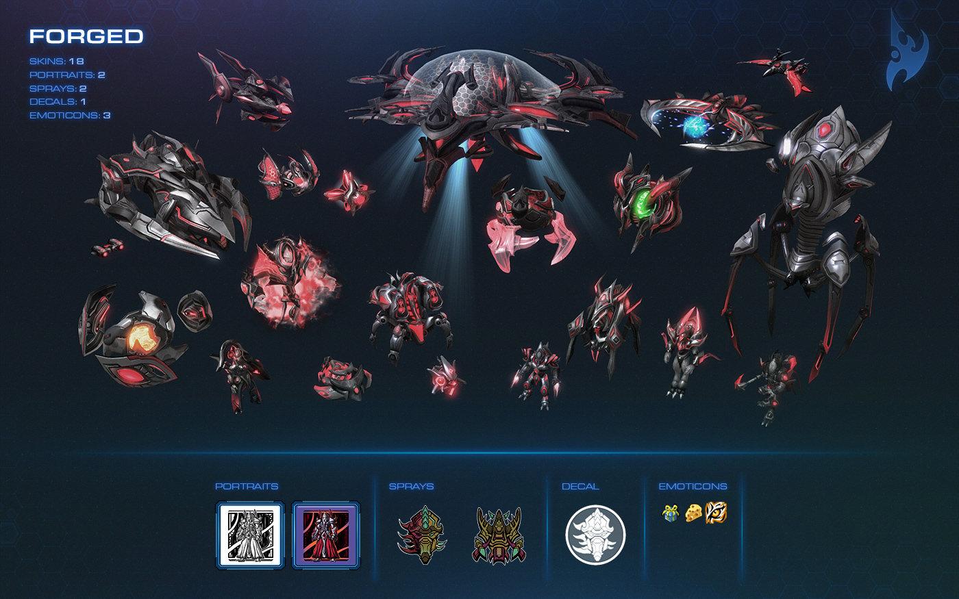 Die Skins des Protoss War Chest