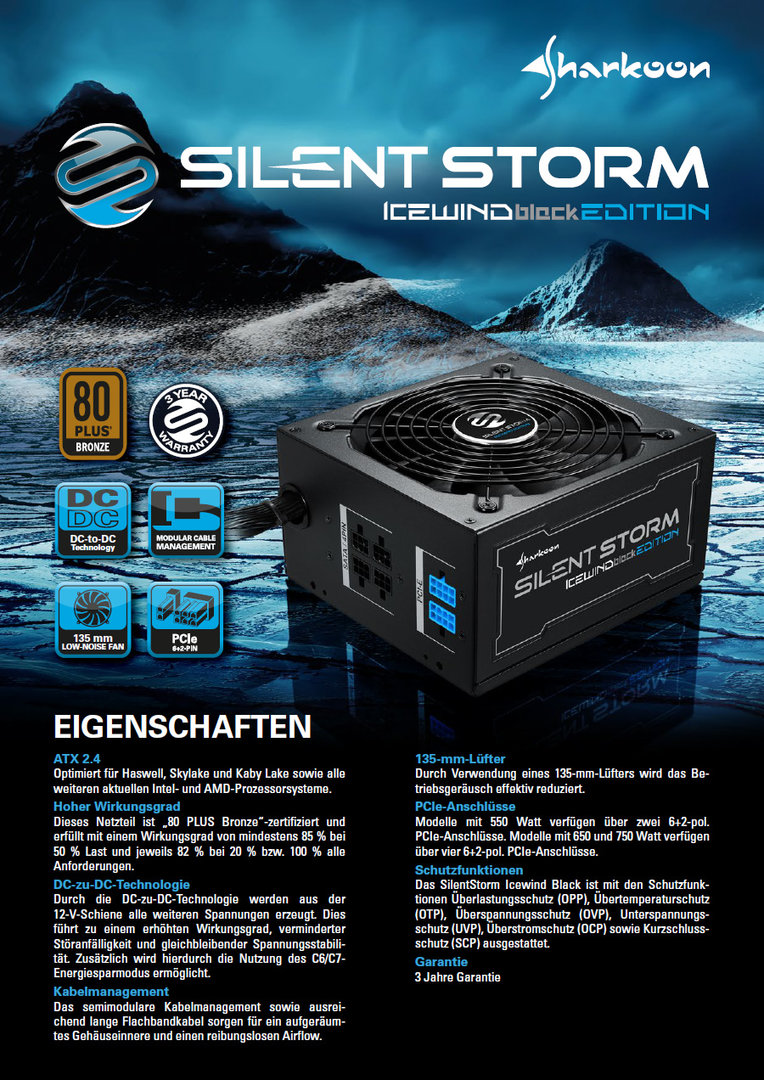 Sharkoon Silentstorm Icewind Black