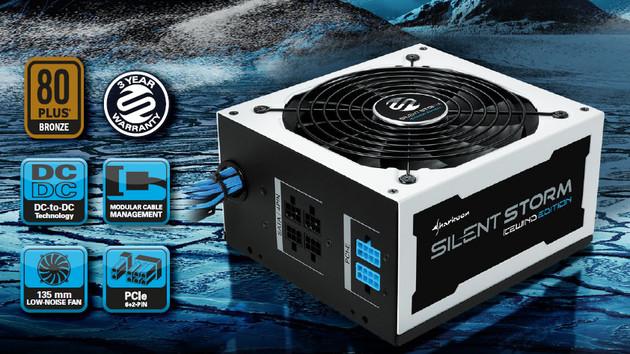 Sharkoon Silentstorm Icewind: Netzteile im winterlichen Design für den Hochsommer