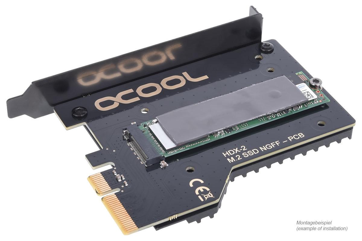 Alphacool HDX 2: Großer Passivkühler für M.2-SSDs