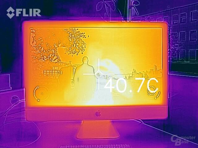 Temperatur Vorderseite nach 30 Minuten Last auf CPU und GPU