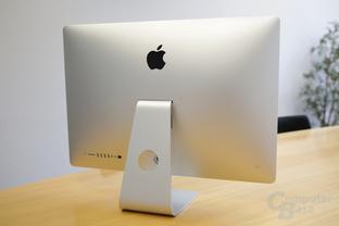 iMac in 27 Zoll mit poliertem Apple-Logo