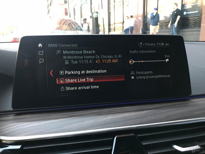 Live-Ansicht der Route mit anderen per SMS teilen