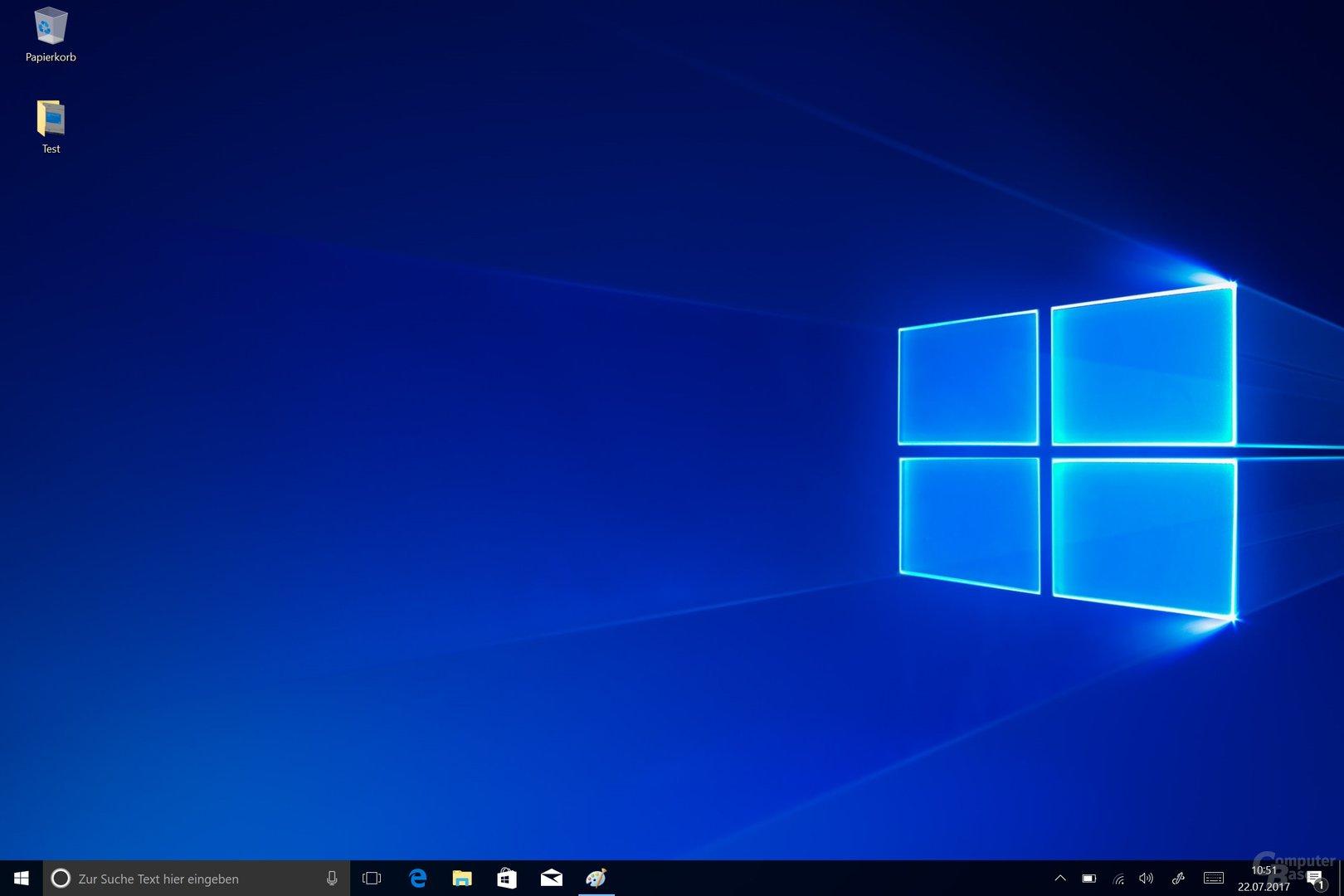 Der Desktop von Windows 10 S