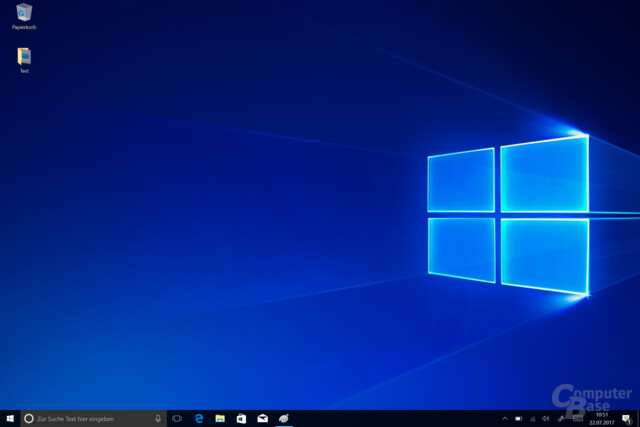 Der Desktop von Windows 10 S
