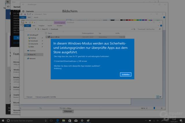 Nur Anwendungen aus dem Windows Store