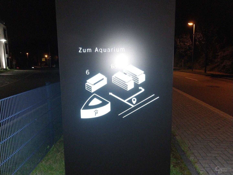HTC U11 im HTC U11 im Test – Nacht mit Blitz